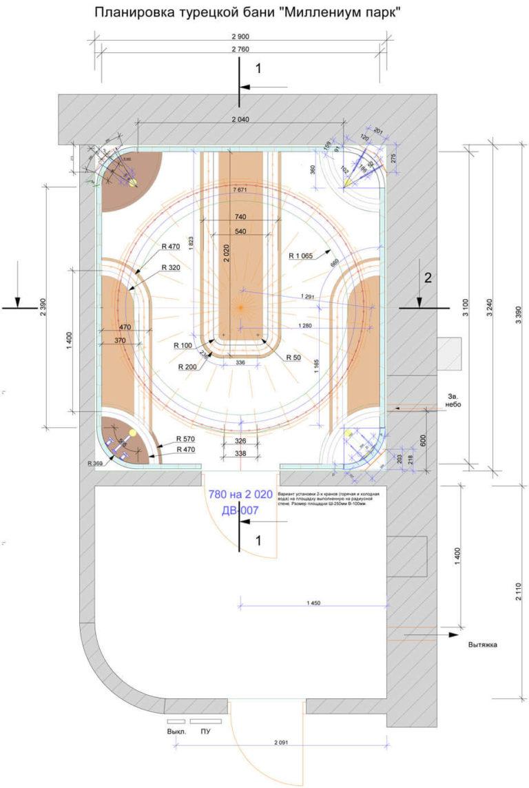 Hamam Millenium plan 768x1144 - Что такое хаммам и его строительство под ключ