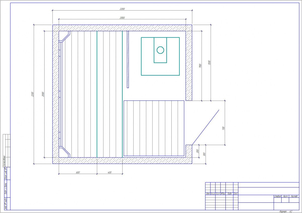 banya1 - Проект бани Б-1 (2x2)