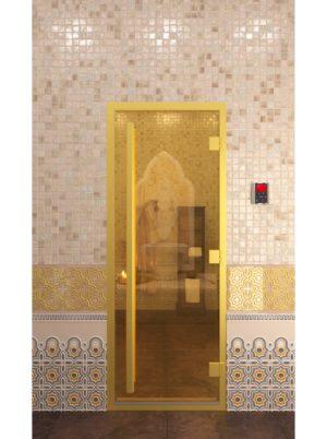 дверь в хамам золото